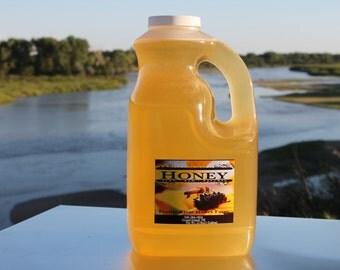 Raw Honey Pure Natural Nebraska Honey One (12lb) 1-Gallon Jug