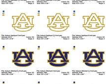 Auburn University Tigers Alabama  Embroidery Designs Set Instant Download