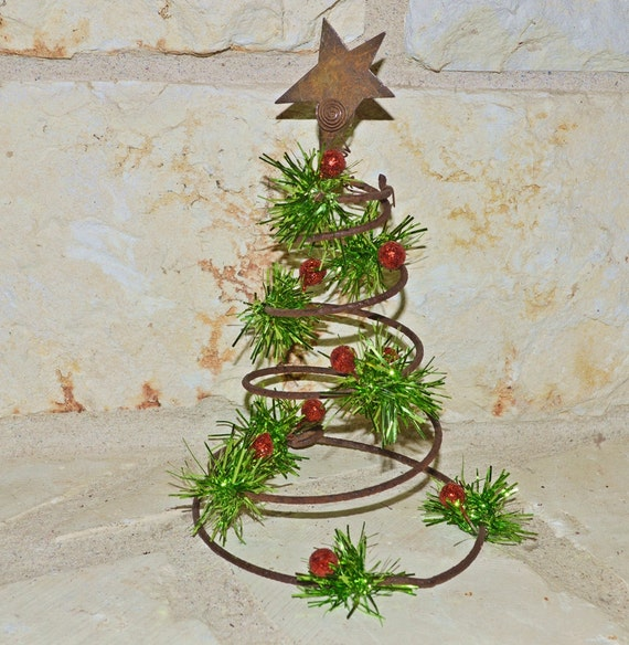 Items similar to Christmas tree made from bed spring on Etsy