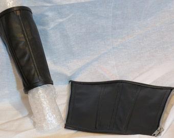 Black Pleather Selene Cuffs - Underworld