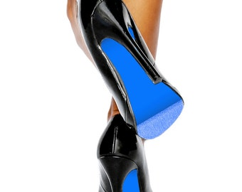 Azure Blue Shoe Sole Kit - Slip Resistant Shoe Bottom Cover for Women's Heels - Renew Your Shoe