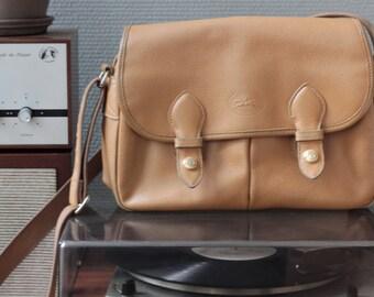 Longchamp bag camel leather