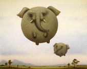 Balloon Elephant -Limited Edition Print-