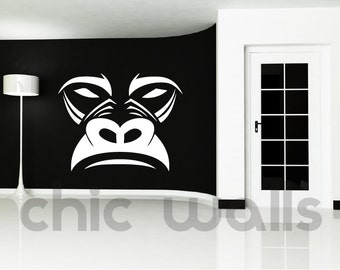 Custom Made Gorilla Face Removable Wall Decor Decal Sticker Kids Room