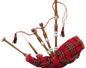 Rosewood Bagpipe with Silver Mounts