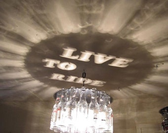 Live To Ride, Light, Harley Davidson, Motorcycle, gift, metal art, man cave, lighting, home decor, beer, beer bottle, dining
