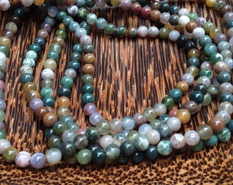 4mm Indian Agate Gemstone Beads Strands (G 406)