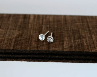 Tiny Sterling Silver Stud Earring