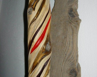 spirale of life, driftwood carving, OOAK