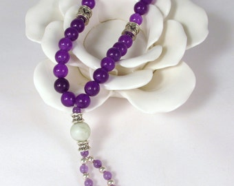 Purple Fluorite Wrist Mala - Free Shipping
