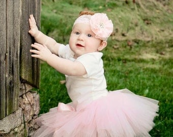 Light Pink Tutu ~ Baby Girl Newborn Toddler Tutu ~ Childrens Tutu ~ Baby Shower Gift ~ Smash Cake ~ Pink Tutu Skirt