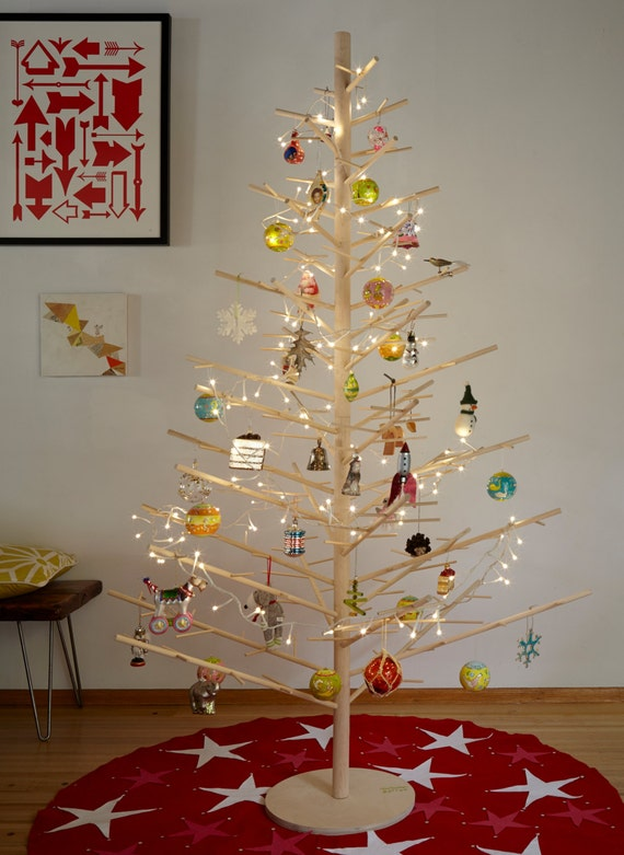 6 Foot Handmade Wood Christmas Tree