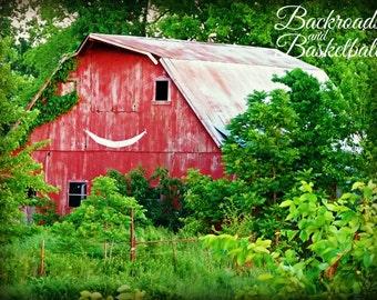 Red Smiling Barn fine art home decor wall art photo print