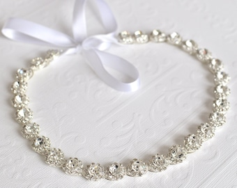 Wedding headpiece, headband, JENNIFER, Rhinestone Headband, Wedding Headband, Bridal Headband, Bridal Headpiece, Rhinestone