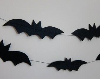 Halloween Black Bats Felt Party Garland Decoration
