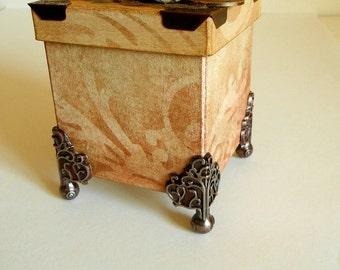 Vintage Look Paper Mache Box