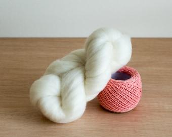 Wool Roving - White (Natural)