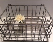 Vintage Collectible Metal Milk Crate
