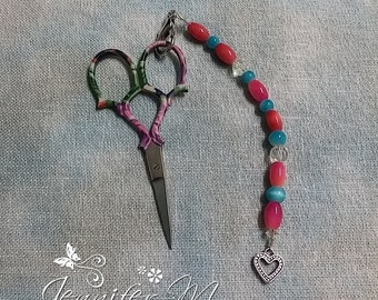 Pink and Blue Scissor FOB & Key Chain