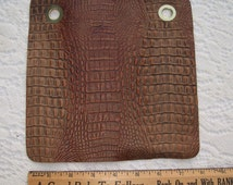 Embossed leather 8x8 brown