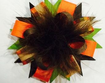 Fall Hair Bow...Thanksgiving Bow