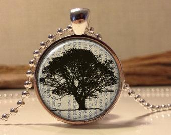Tree necklace.Tree of life necklace. Tree of life art pendant jewelry. tree jewelry. (Tree#04)