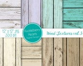 80% OFF SALE Teal and Brown Wood Backgrounds, Digital Scrapbook Paper, Digital Wood Paper, Digital Wood Textures