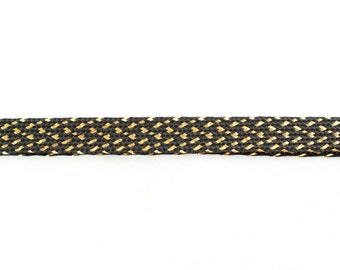 27yds Black & Gold Plaited Braid Trim - 25 Metres