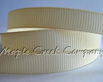 "5 yards Ivory Grosgrain Ribbon, 4 Widths Available: 1 1/2"", 7/8"", 5/8"", 3/8"""