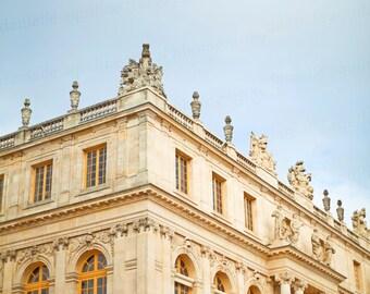 Paris Versailles Palace, Marie Antoinette, Gold Architecture France, European Travel Photo, 8x10 Photo