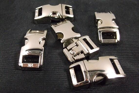"3/8"" Metal Side Release Buckle Curved Top Clasp Paracord Bracelet Survival"