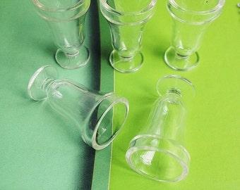 2/4 pcs. Miniature Acrylic Icecream Glass, miniature ice-cream cup,Miniature Glass,Dollhouse Glass,Miniature Icecream Glass,Icecream Cup