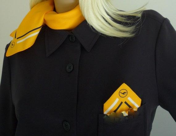 lufthansa german airlines stewardess flight attendant