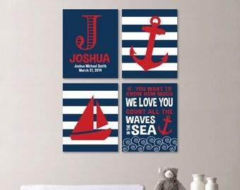 Baby Boy Nursery Art. Nautical Nursery Decor. Nautical Nursery Print. Nautical Nursery Art. Nautical Bedroom Art. Wall Art. Canvas. NS-530