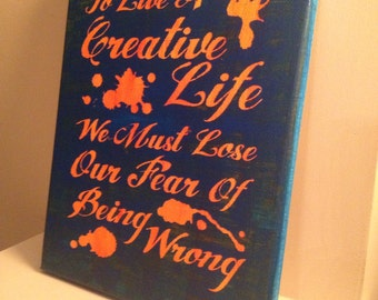 To Live A Creative Life - Painintg