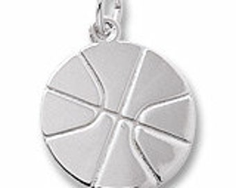 Sterling Silver Basketball Charm by Rembrandt