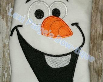 Snowman Snow Man Men Face Women Adult T-Shirt Boutique! Embroidered Applique Shirt Birthday Party