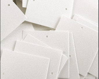 150 Glossy white square sequins. 25mm. JR04659