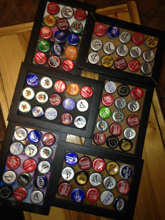 items similar to bottle cap picture frames on etsy