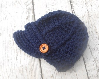 Crochet newsboy hat , in 5 colors to choose,crochet baby boy hat  for photo prop