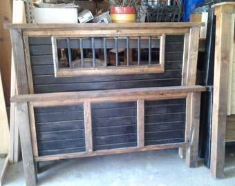 primitive rustic bed