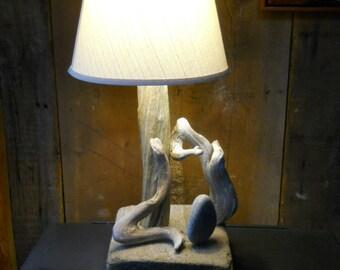 "Driftwood Lamp""Hide and seek"""