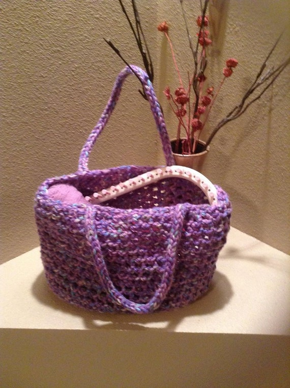 Knitted Tote Bag Pattern : Tote Bag a loom knit pattern