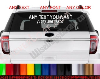 STORE NAME Decal CuStOm Car Window Business Vinyl company name Personalized Website Sticker Decals Stickers Painter Contractor Realtor Shop