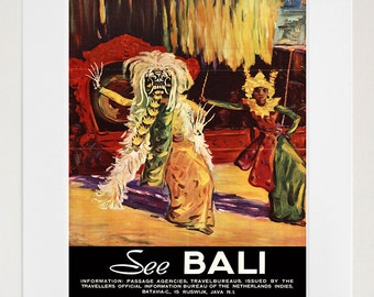 Bali Travel Poster Art Print Home Decor (XR179)