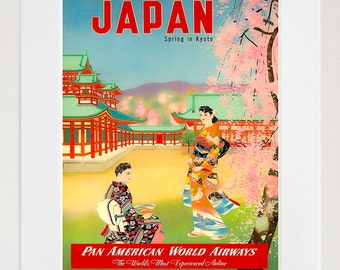 Japan Retro Poster Japanese Travel Art Home Decor Print (zt636)