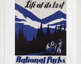 Retro Decor National Parks Art Travel Poster Wall Art Print (ZT688)