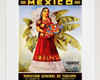 Exceptionnel Mexico Travel Poster Home Decor Mexican Wall Art Print (ZT539)