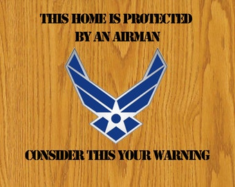 "11x14 ""This home is protected..."" military door sign"