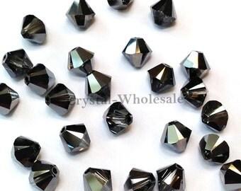 Crystal Silver Night (001 SINI) Swarovski 5328 / 5301 6mm Xilion Bicone Beads ** FREE Shipping